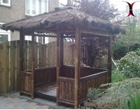 Bamboe patio tuinhuis gazebo small